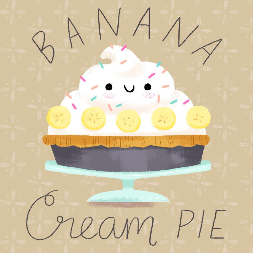 banana cream pie illustration alyssa