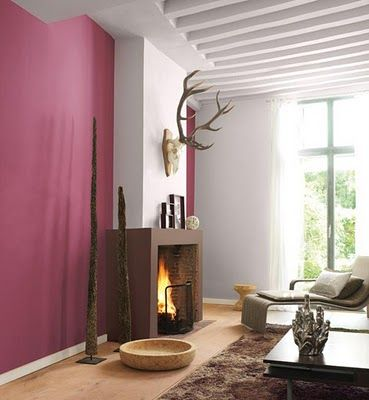 Pink Accent Wall passionate magenta feature wall | my living room inspiration