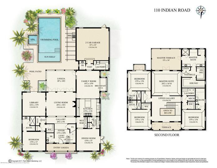 110 Indian Rd Palm Beach Fl Floor Plans Pinterest