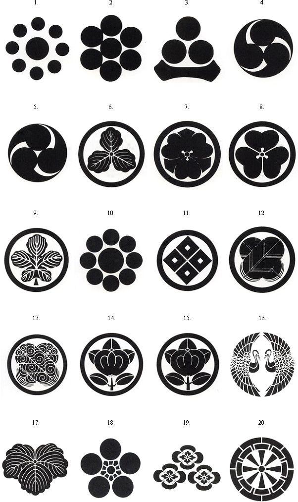 Crest List Samurai Store International 家紋 侍 幾何学的デザイン