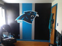 Panthers Wall  Sports room, Carolina panthers football, Carolina