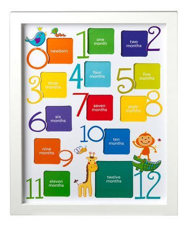 White 12 Month Collage Picture Frame Collage Picture Frames Picture Frames Diy Picture Frames