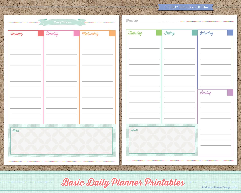 Free Printable Planner Free Daily Planner Printables