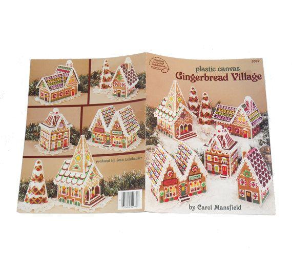 Gingerbread Village Plastic Canvas, Christmas Village, Plastic ...