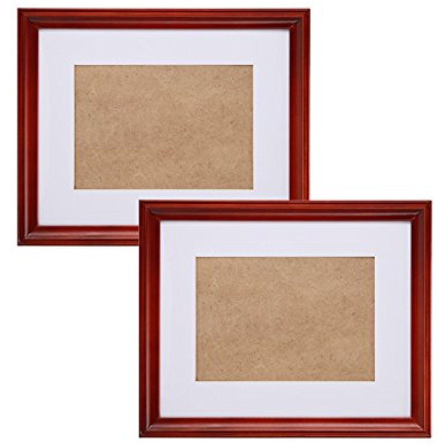 Fastnova 6x8 inch Narrow Cherry Red Wood Picture Frames Made to ...