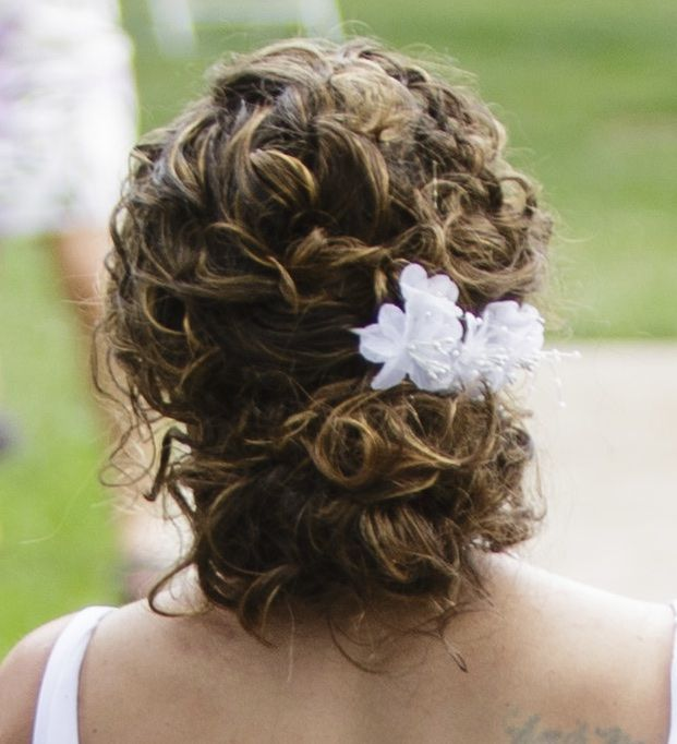 Wedding hair style for natural curly hair  Wedding