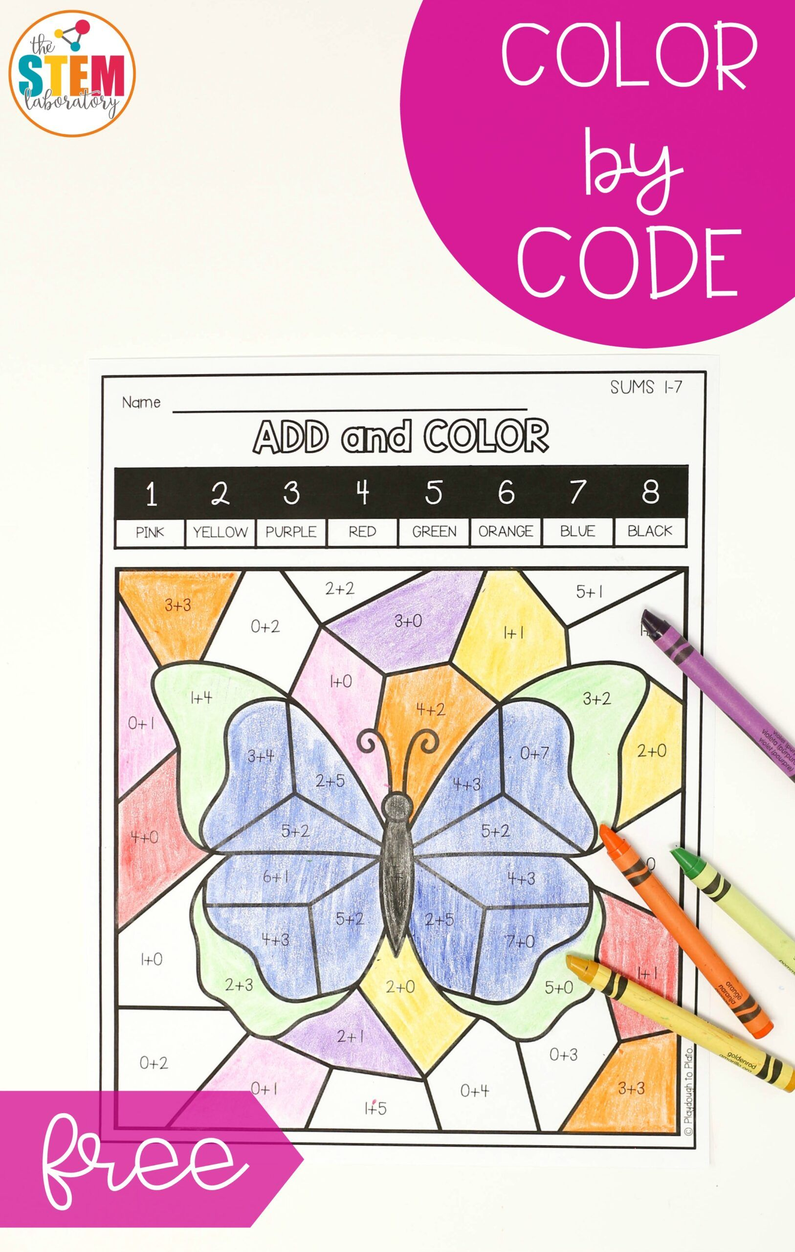 Butterfly Color By Code