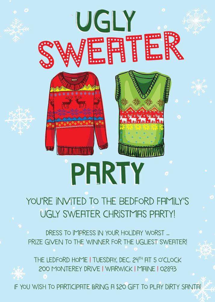 Image of Vanessa Ledford Ugly Sweater Invitation | invitaciones ...