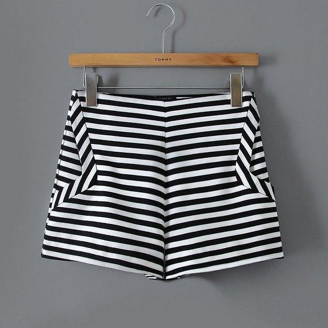 Barato Elegante bolsos shorts shorts vintage causal fino marca ...
