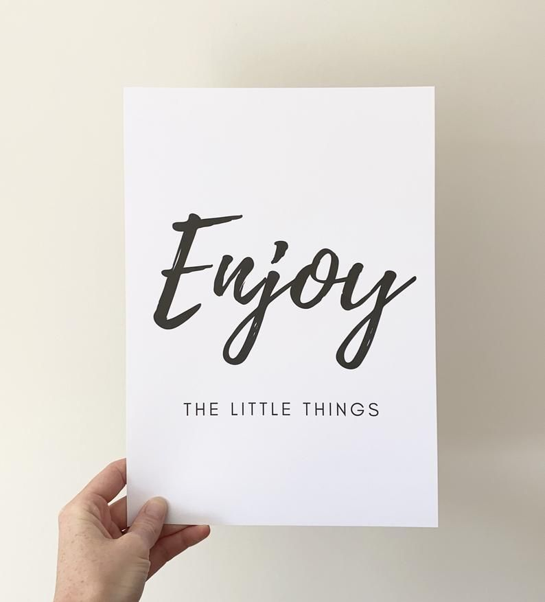 Enjoy the Little Things Print  FREE P&P   Etsy