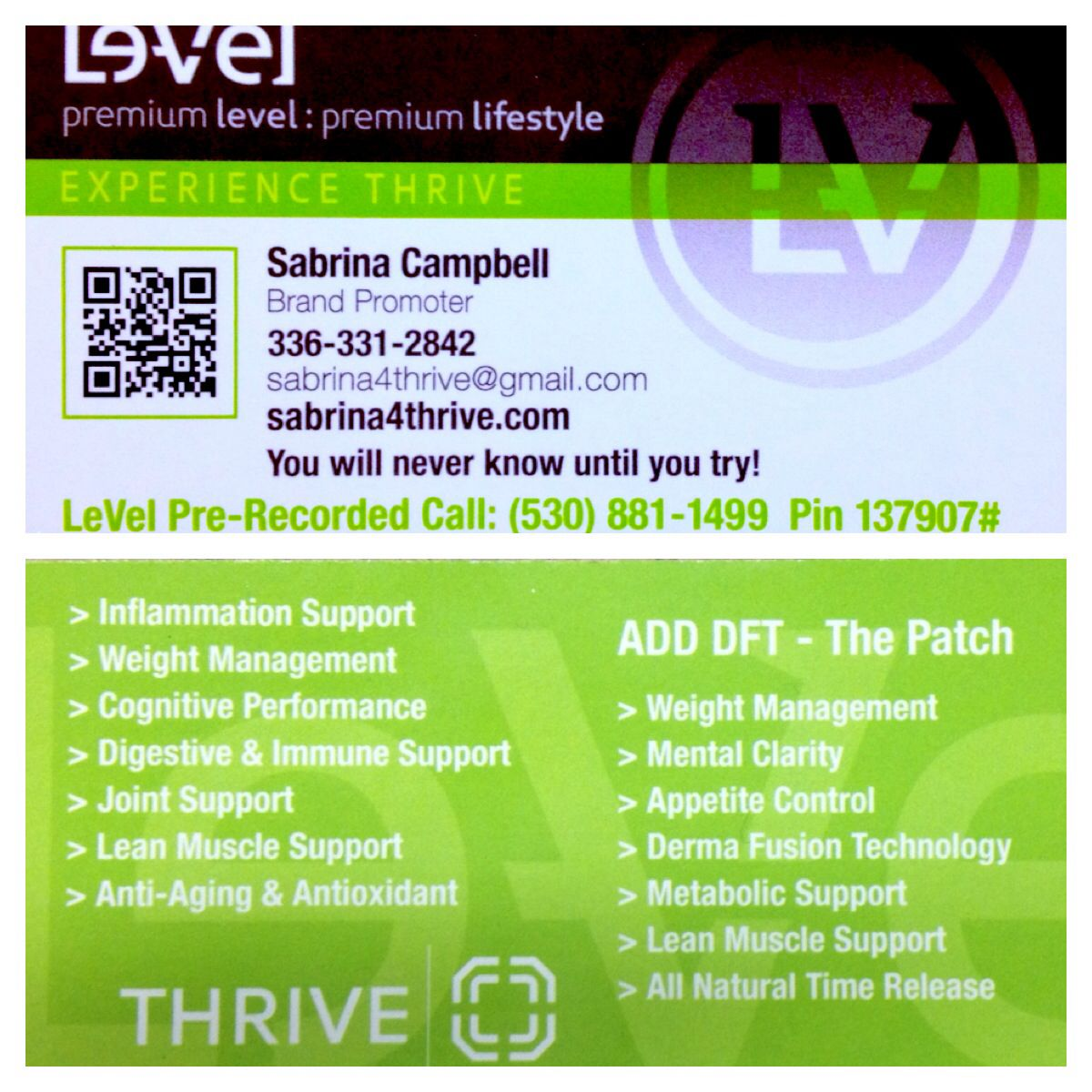 Images Of Le Vel Business Cards Google Search Level Thrive Life