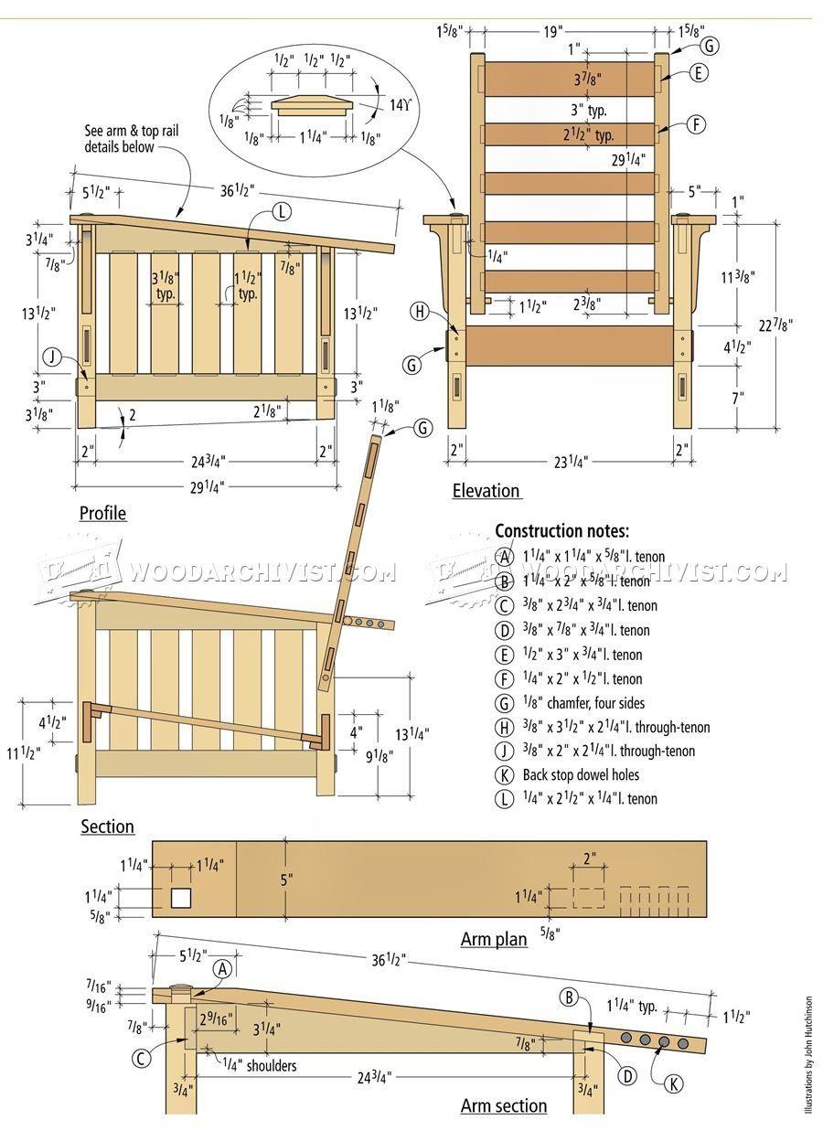 Morris Chair Plans Morris Chair Wood Furniture Plans Chair