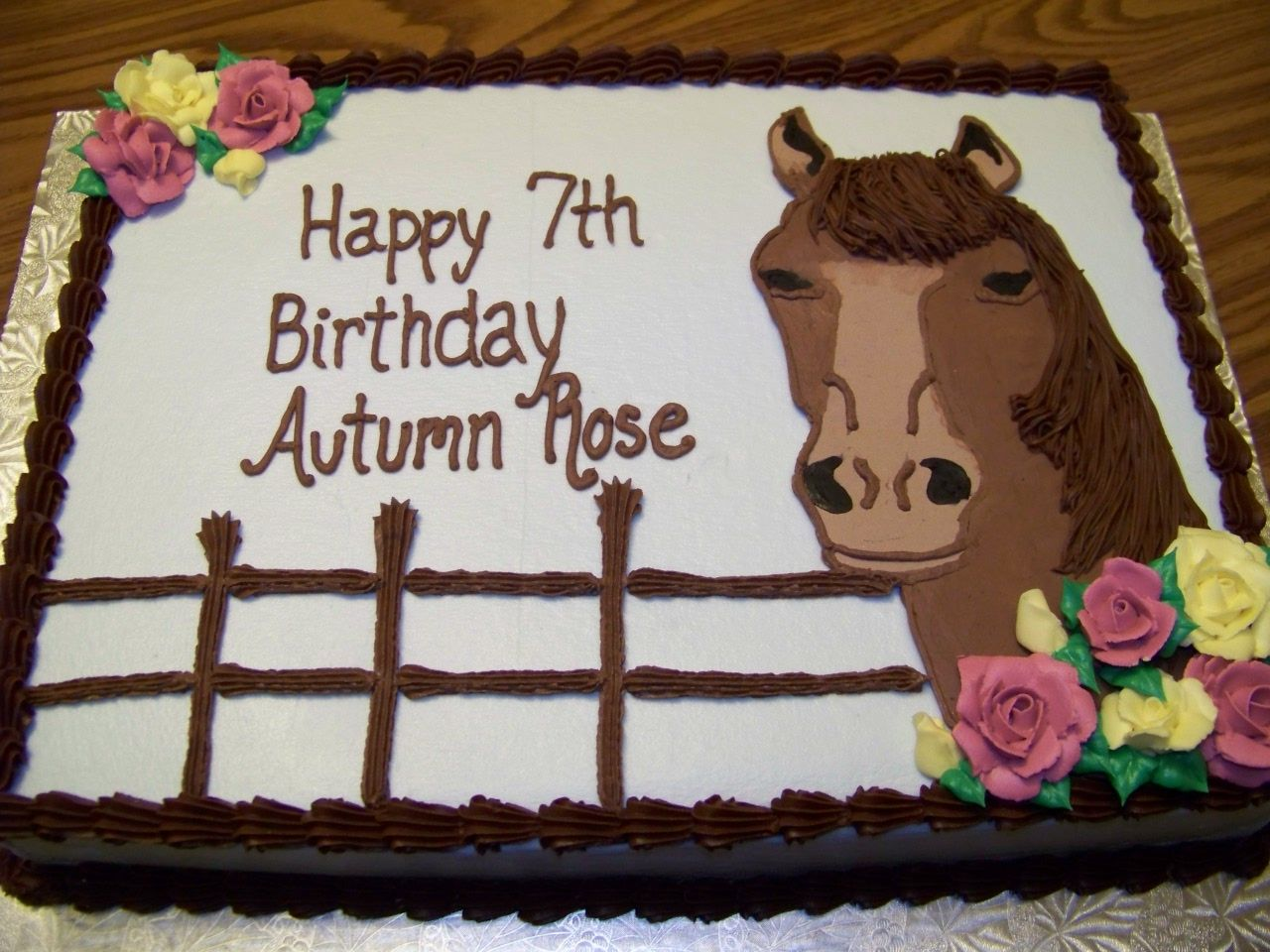 Horse Birthday Cakehaha I have a friend named atutmn rose let