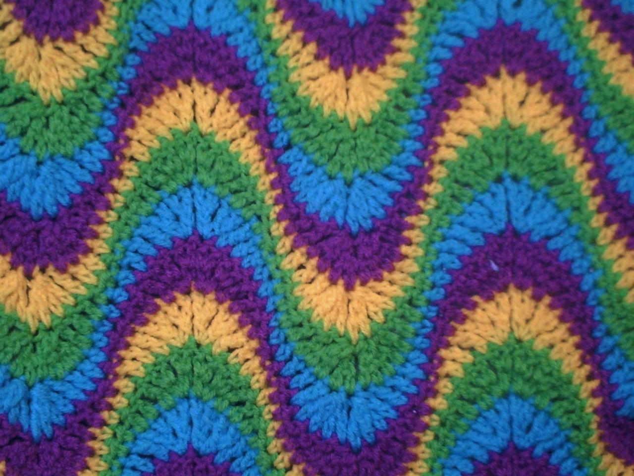 Multi-Colored, Exaggerated Ripple Afghan / Throw Crochet Pattern PDF ...