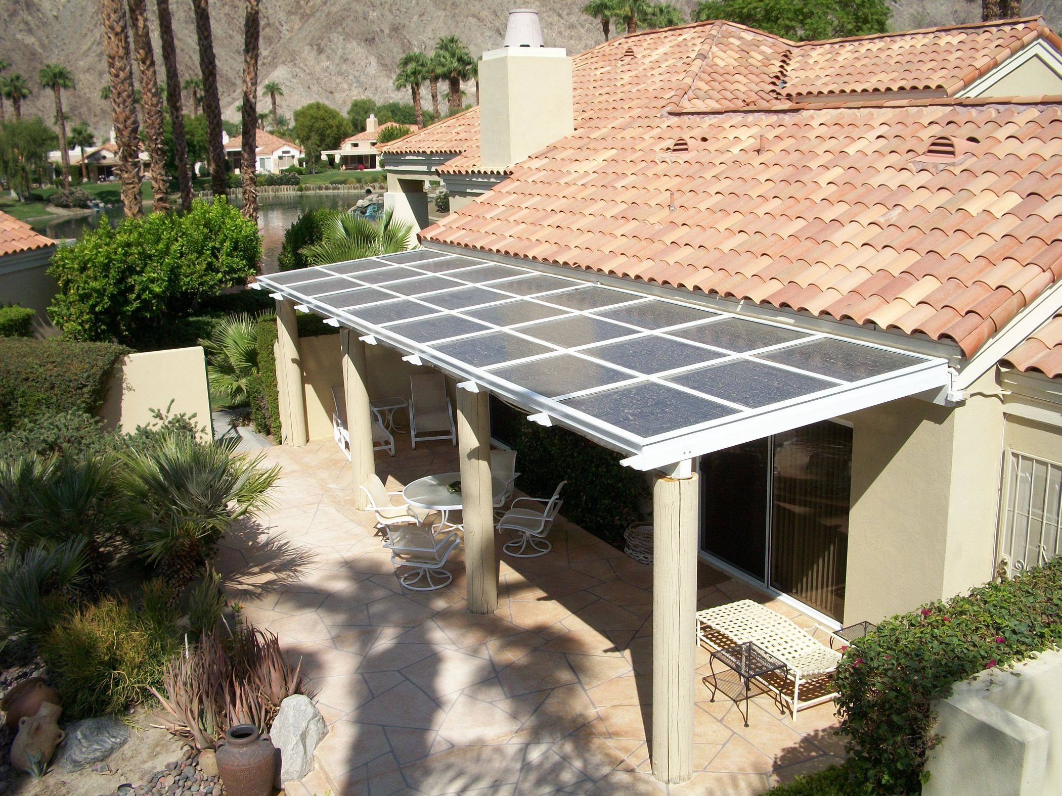 Solar Patio  Not Panels On The Roof