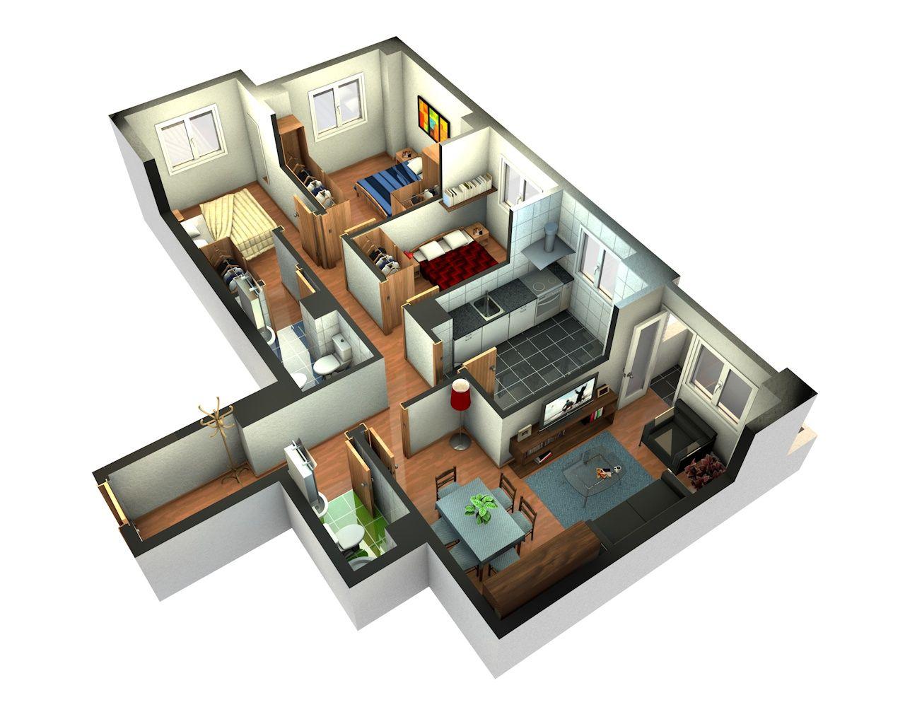 maquetas de casa modernas por dentro - Buscar con Google | แบบแปลน ...