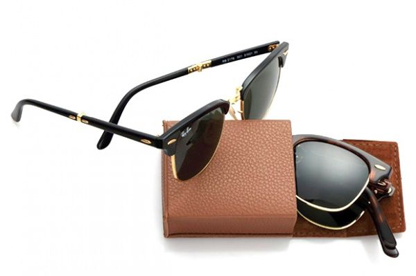 ray ban folding club master 1 Ray Ban Introduces Folding Version of their  Clubmaster Sunglasses e79b896d29