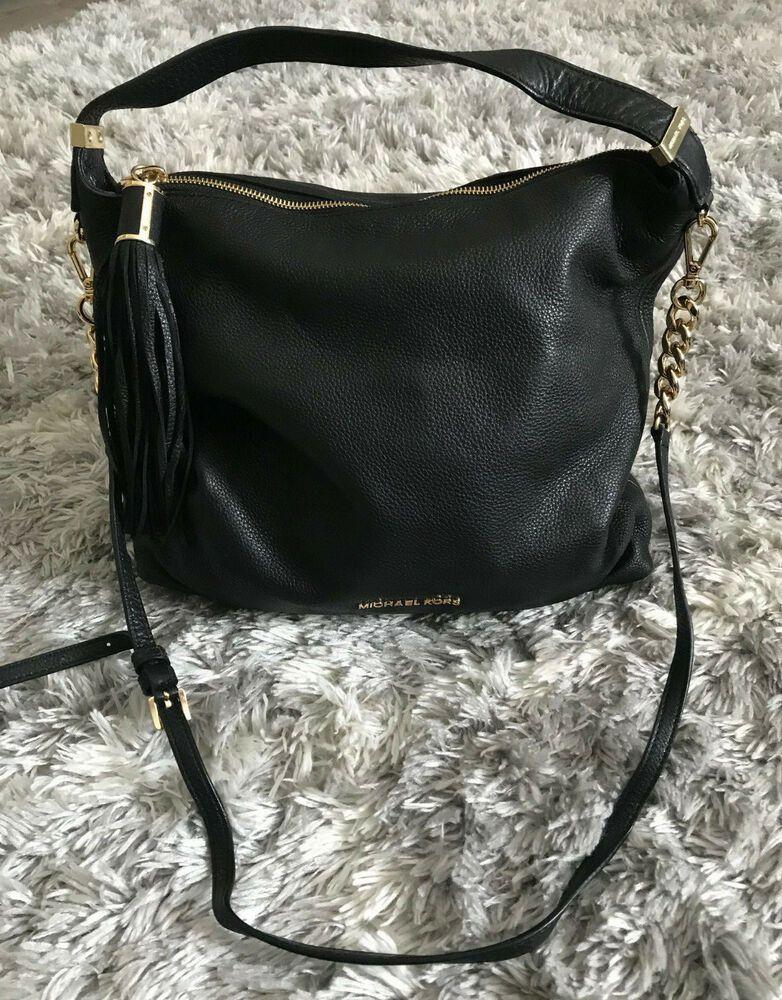 Michael Kors Large Black Bedford Tassel Shoulder Bag