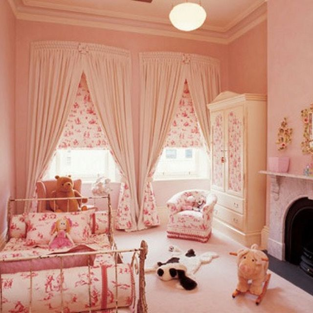 32 Dreamy Bedroom Designs For Your Little Princess: Pink Nursery Using Classic Winnie The Pooh Fabric