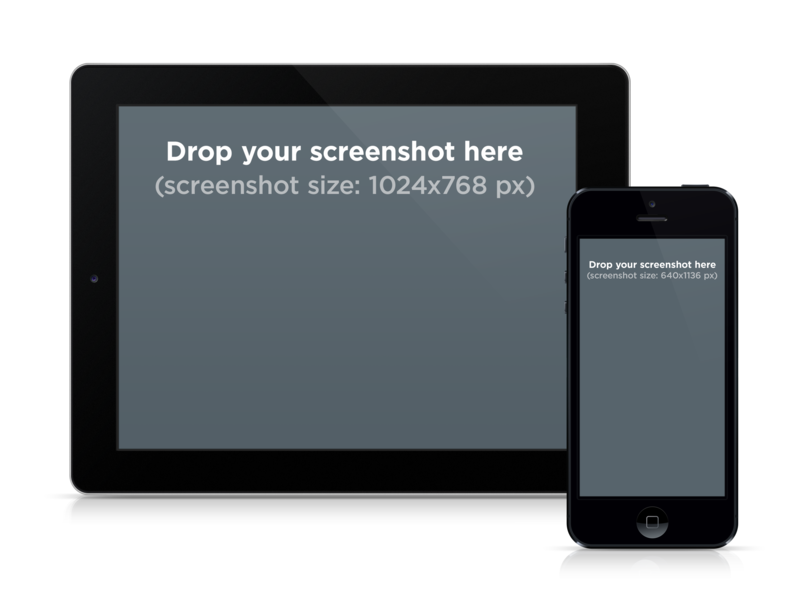 Device Mockup Black iPhone and iPad Side by Side Placeit