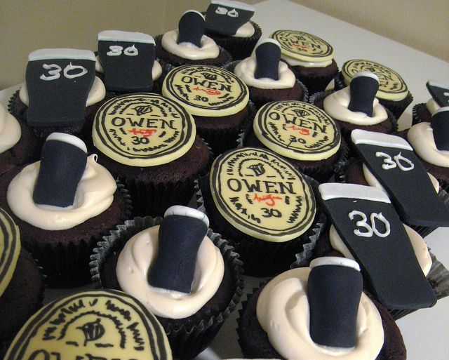 Guinness 30th Birthday Cupcake Toppers Party Birthday