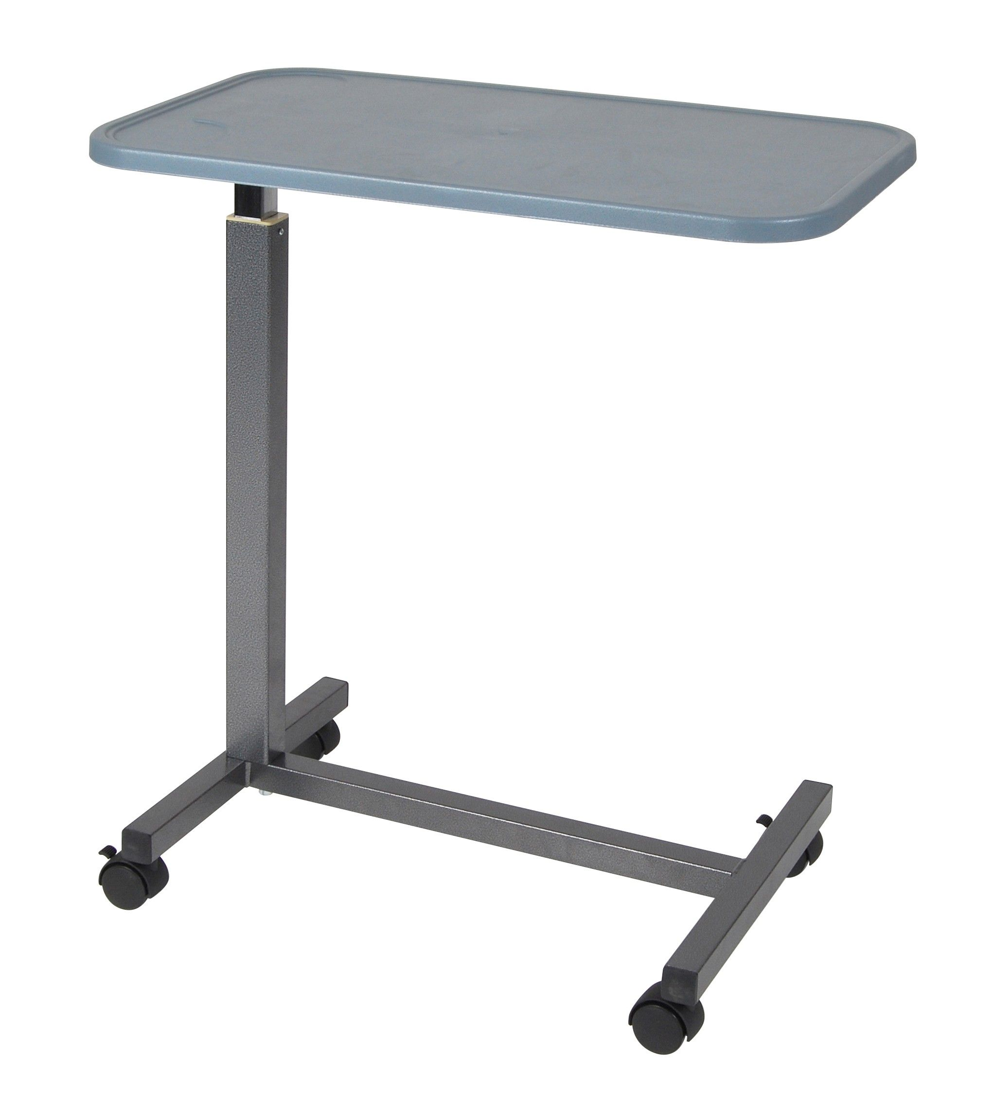The Overbed Table with Plastic Top gives you a stable