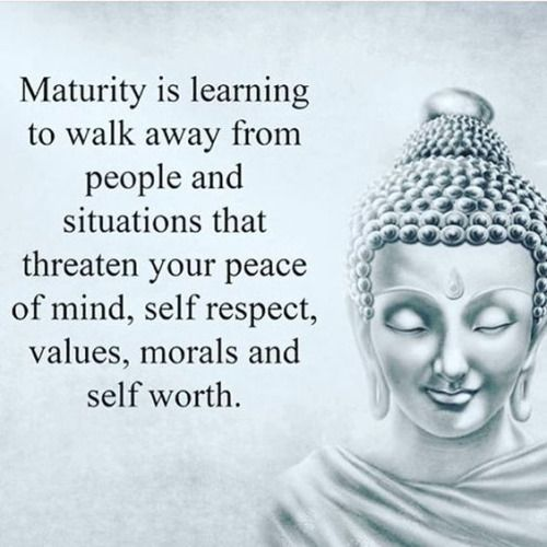 More maturity quotes...