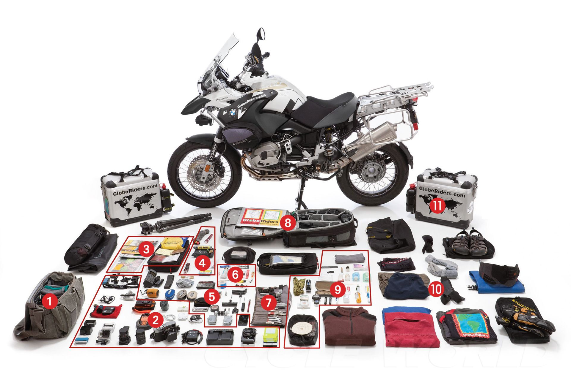 How To Pack Your Adventure Bike For World Traveling Adventure Bike Motorcycle Camping Motorcycle Camping Gear