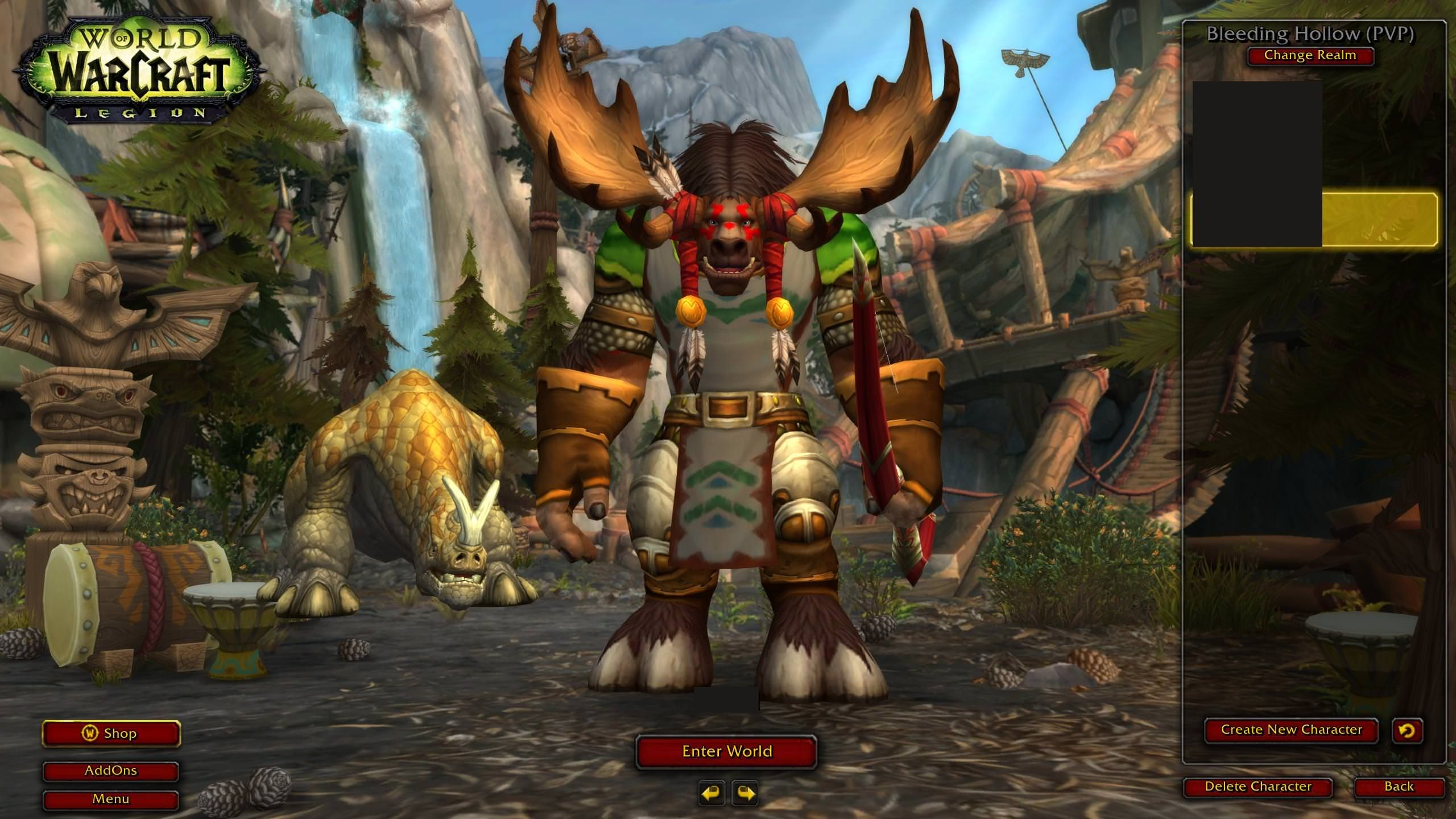 fishing chair wowhead rentals in md hunter pets sit a bit awkwardly on the highmountain tauren login screen worldofwarcraft blizzard hearthstone wow warcraft blizzardcs gaming