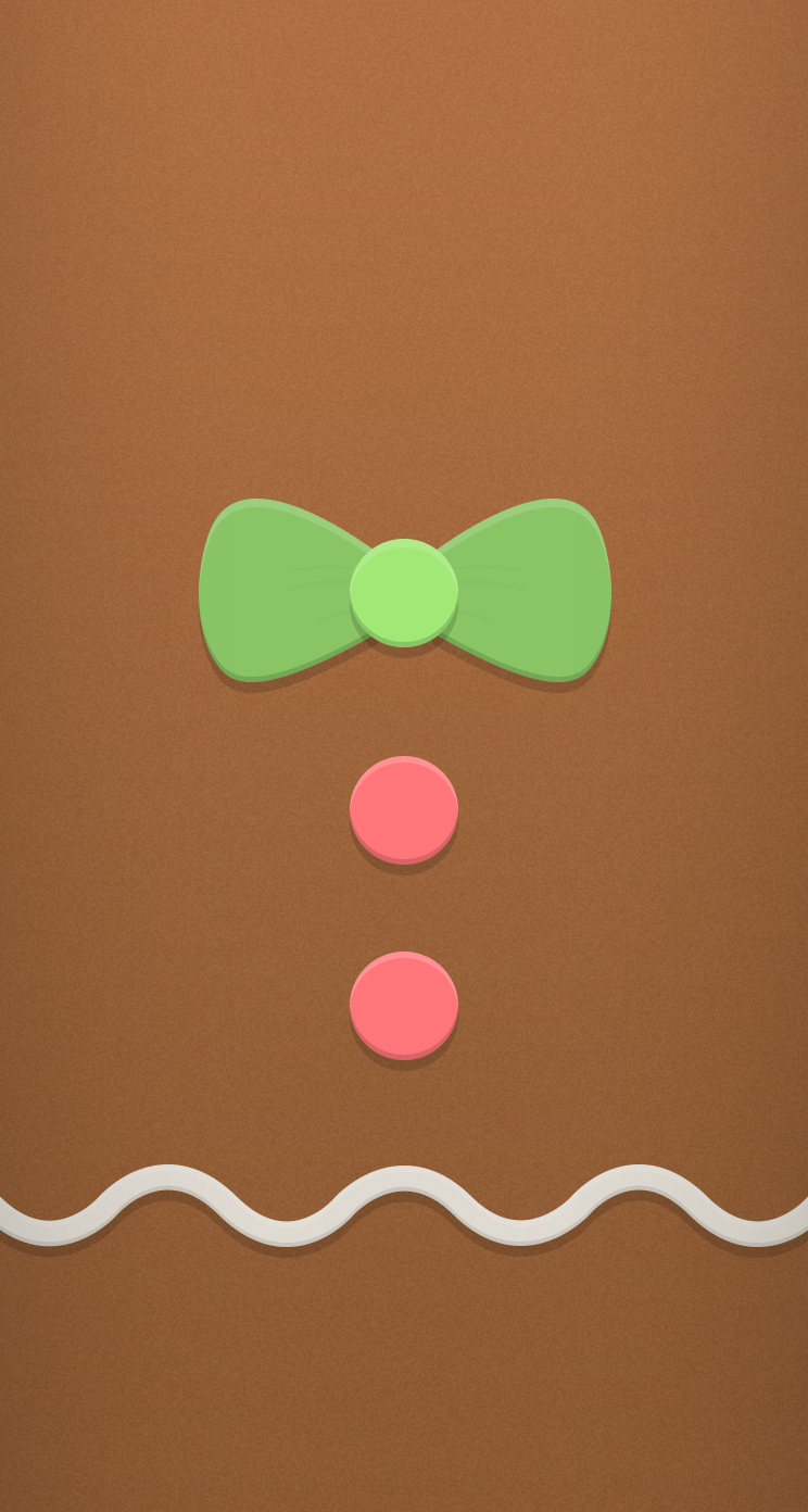 Gingerbread ★ Find more seasonal iPhone + Android