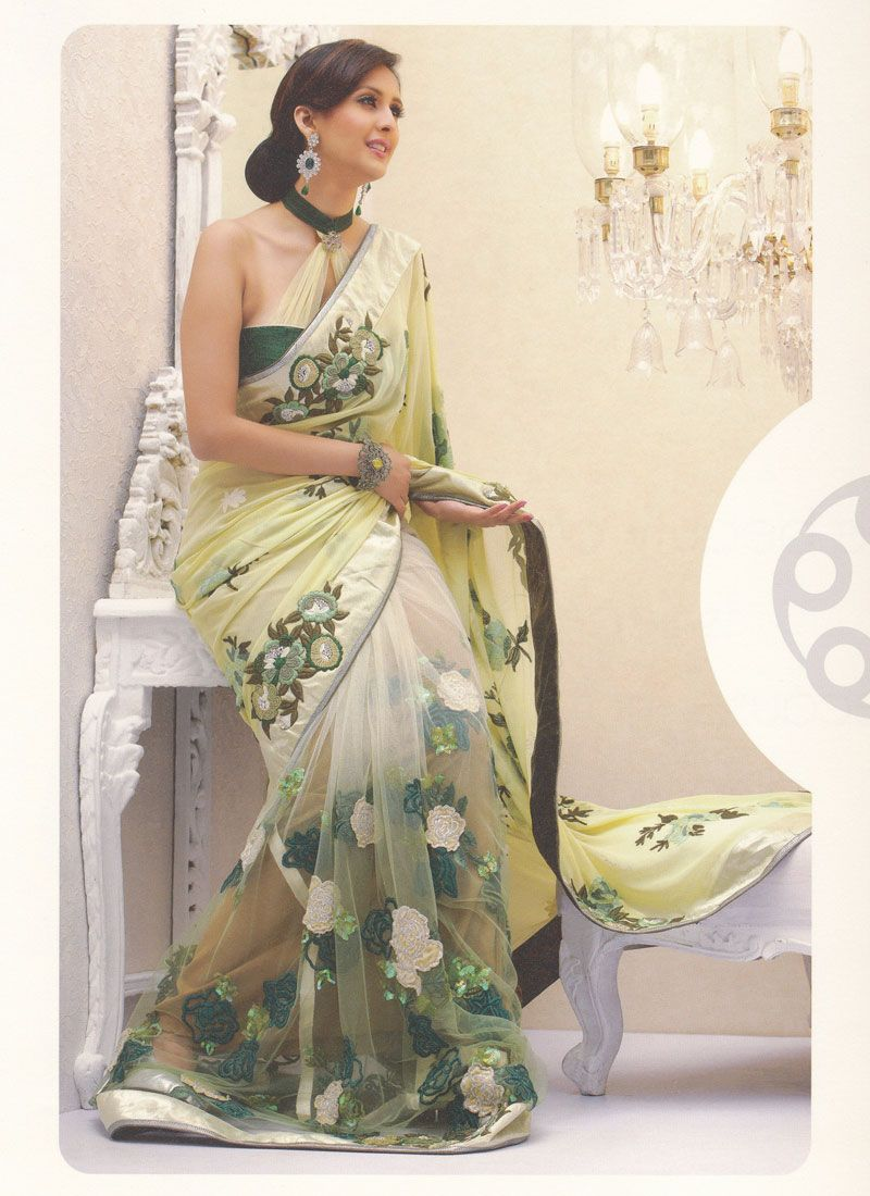 Retro style fashion saree resham suave half and half saree  fabric lust and design ideas
