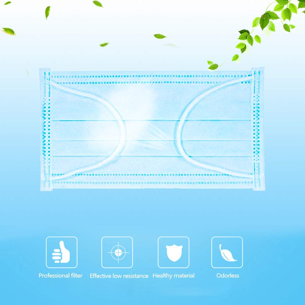3layer mask 50pcs Face Mouth Masks Non Woven Disposable