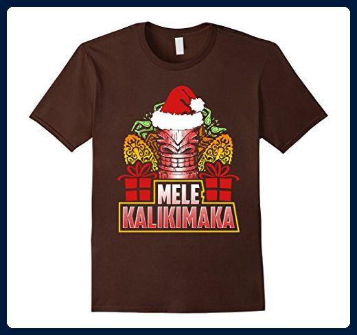 Mens Mele Kalikimaka Hawaiian Tiki Merry Christmas Hawaii Shirt XL
