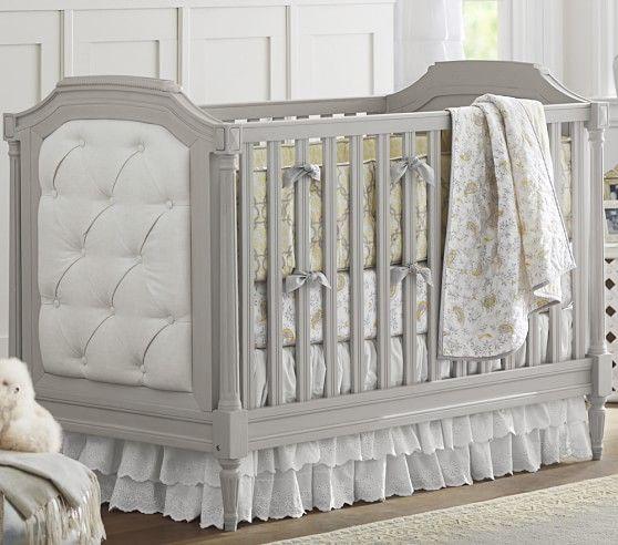 Blythe Upholstered Convertible Crib Nursery Furniture Sets