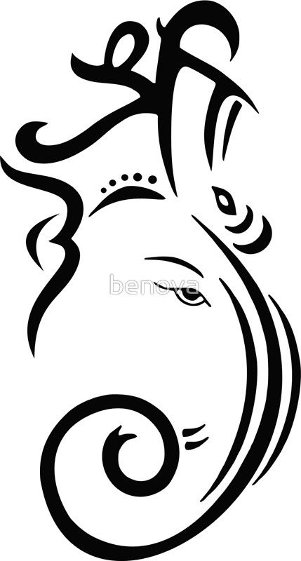 Ganesh Line Drawing : Simple ganesha face drawing pixshark images