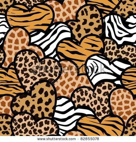 Animal print hearts seamless background by esw via for Leopard print wallpaper