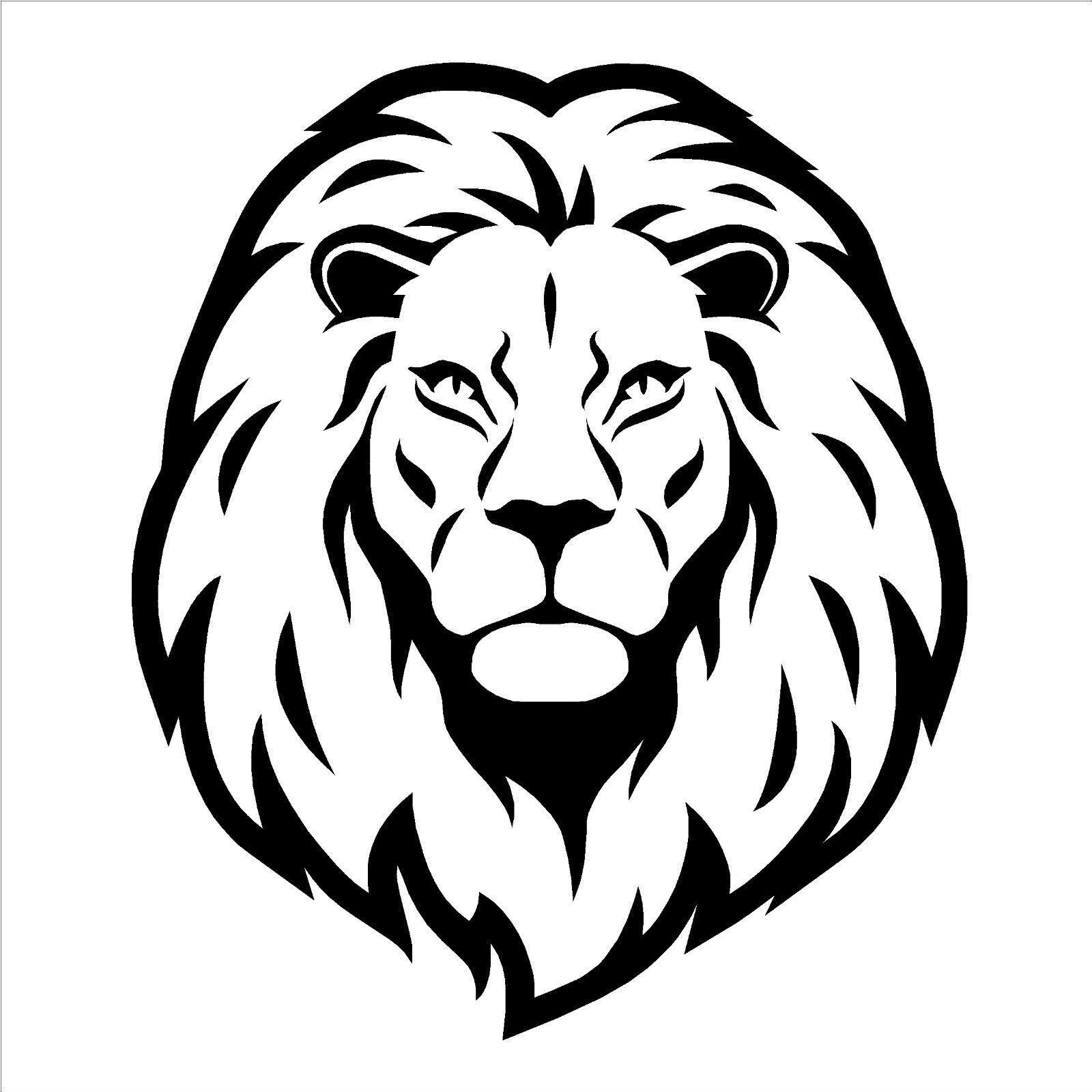 Line Drawing Lion Head : Lion head vinyl wall art sticker decal animal themed