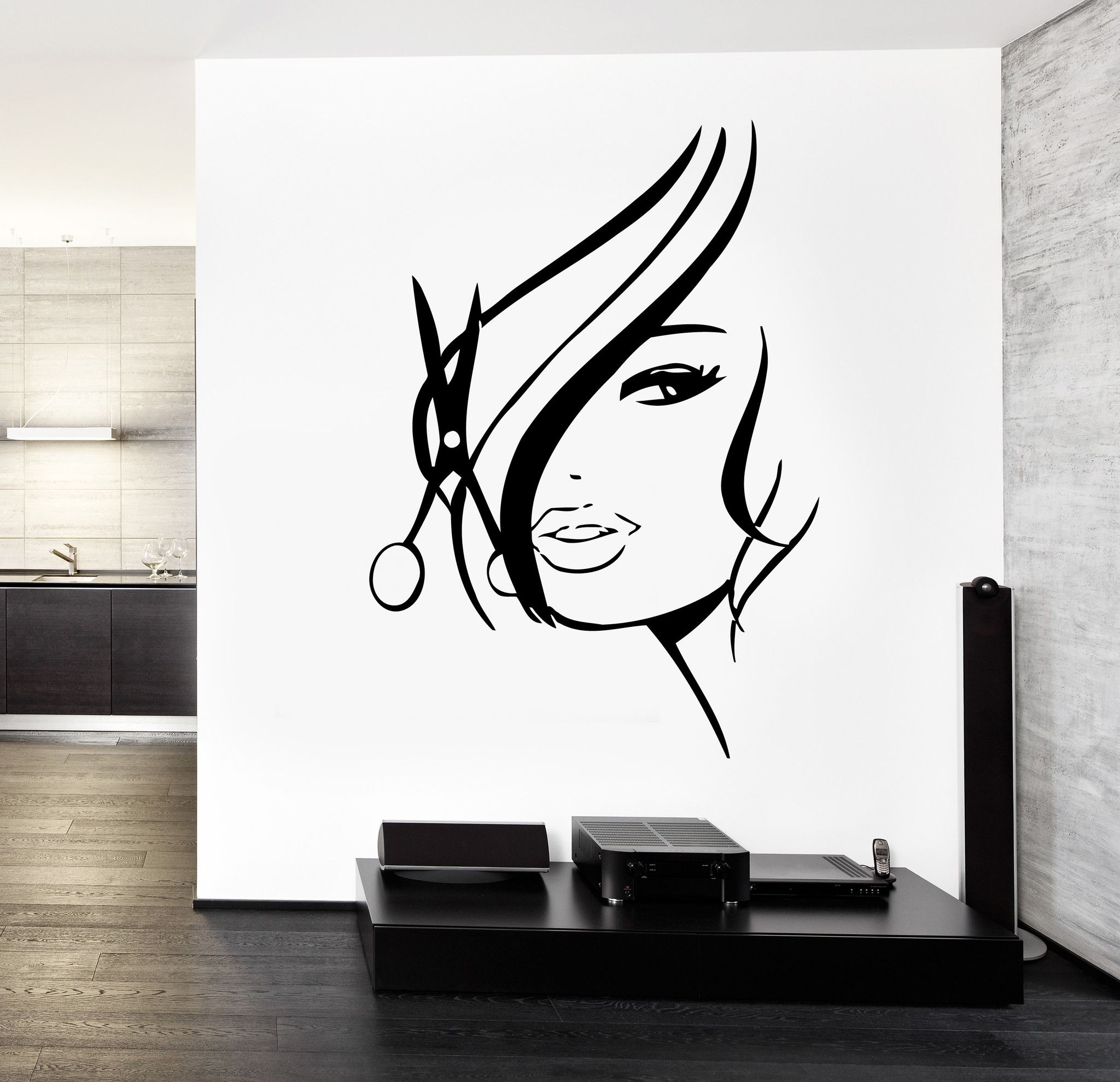 Vinyl Wall Decal Wall Decal Hair Salon Barbershop Hair Cuttery Unique Gift