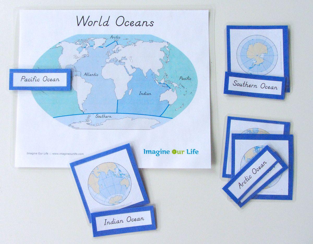Montessori Ocean 3 Part Cards Amp Control Chart