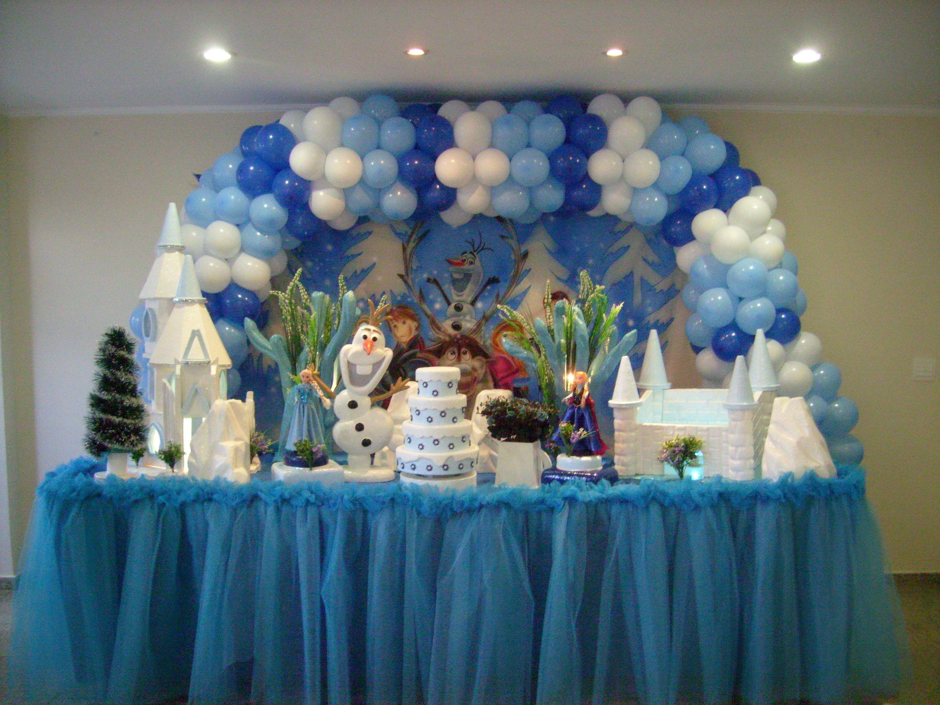 spesso decoração de festa frozen - Pesquisa Google | Decoração de Frozen  OS56