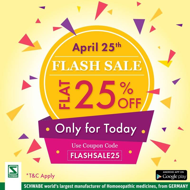 SchwabeIndia FlashSale!! Today's special offer at http