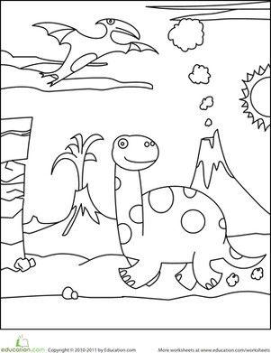 Kleurplaat Dino Activites Dinosaures Pinterest