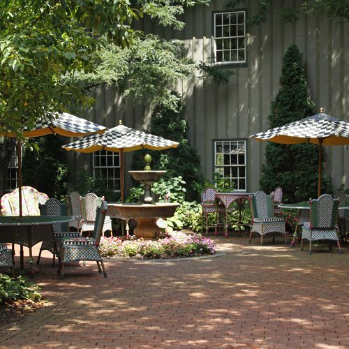 MacKenzie-Childs - Green house and Flower Market Outdoor Furniture