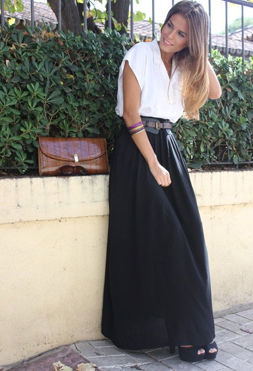 GirlBelieve: WB (white - black) | saias | Pinterest | Long black ...