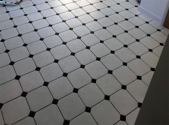 Octagon Classic White 316x316 Amp Black Taco Tiles