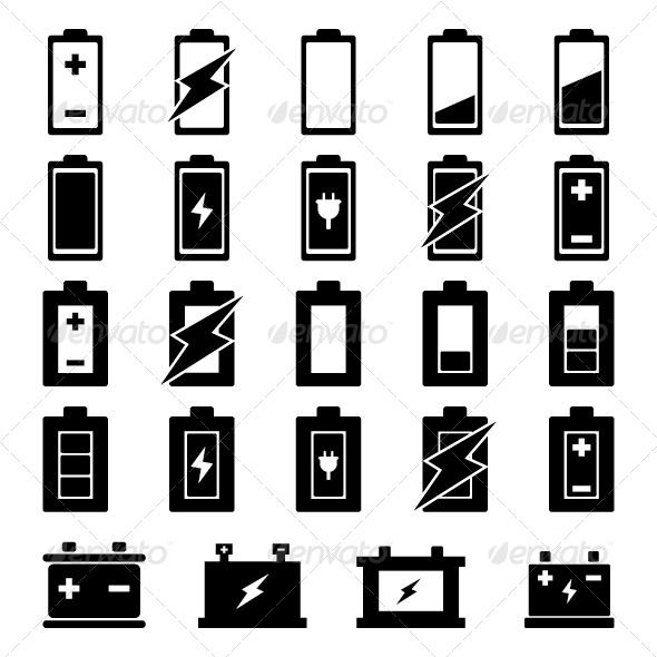 battery vector business icons vector vector free vector battery vector business icons vector