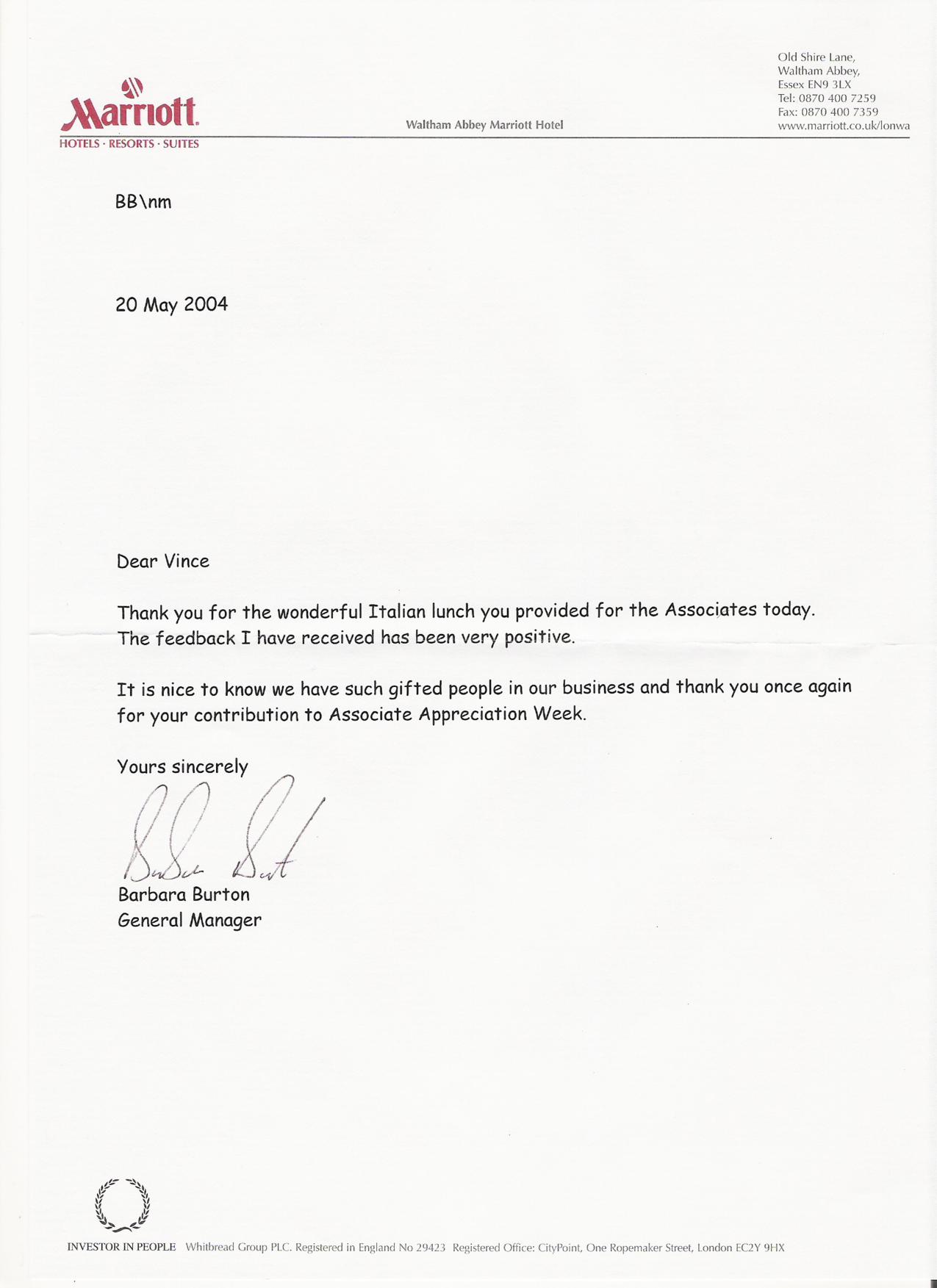 appreciation letter Associate Appreciation Week Letter