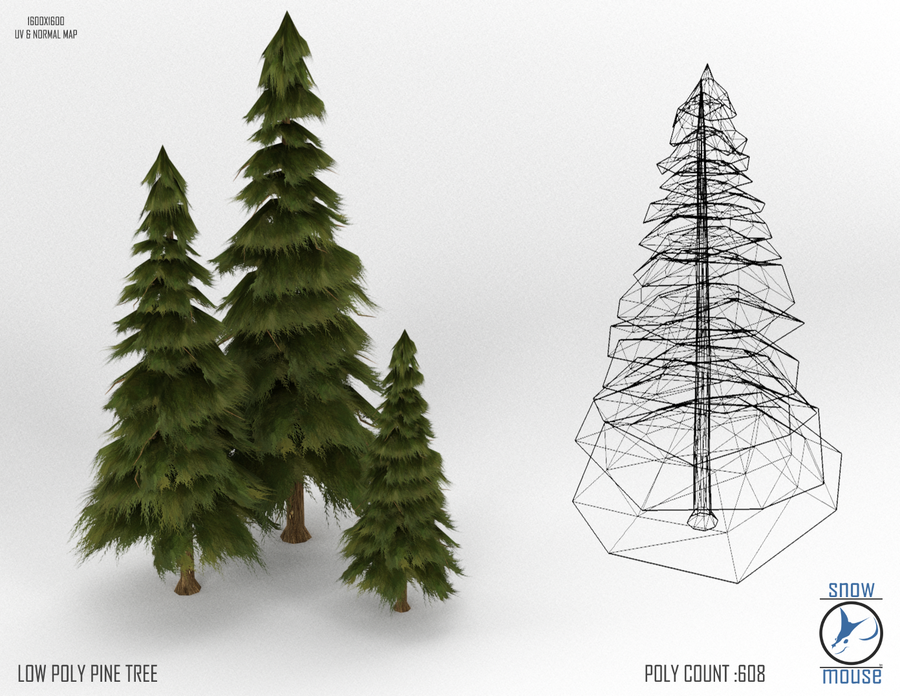 Low Poly Pine By Thesnowmouse On Deviantart Textured Artwork Tree Textures Low Poly
