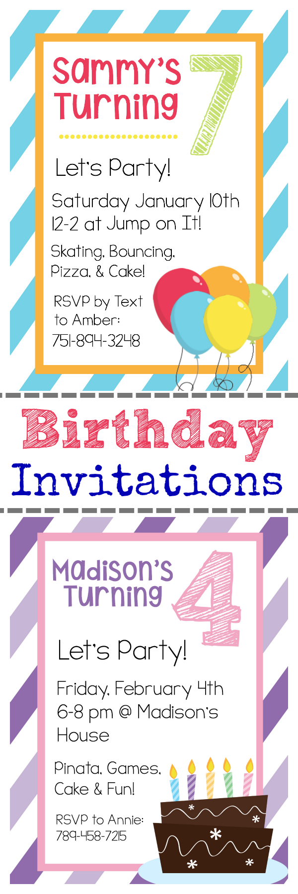 Free Printable Birthday Invitation Templates | Pinterest | Free ...