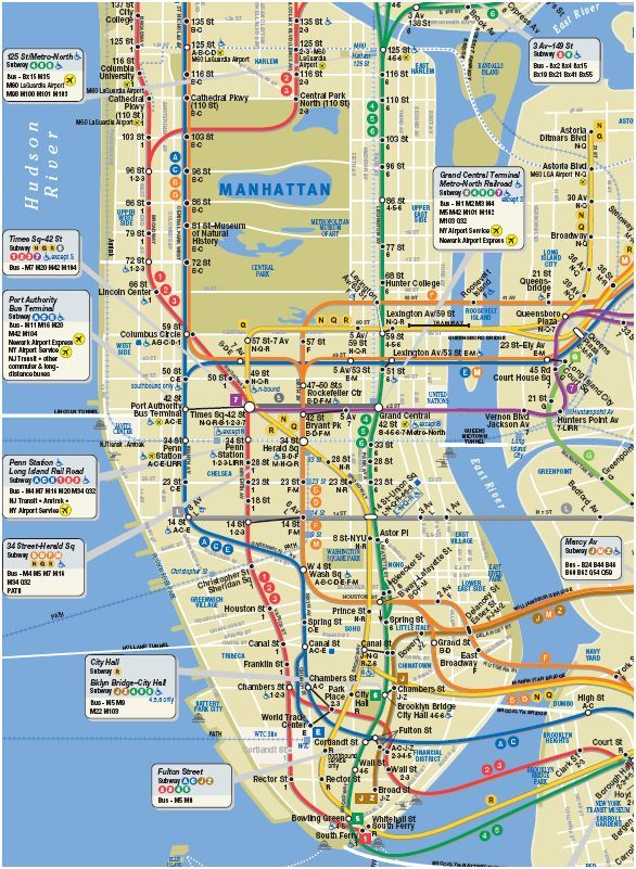 interactive tour walking maps of manhattan – New York City Tourist Map PDF